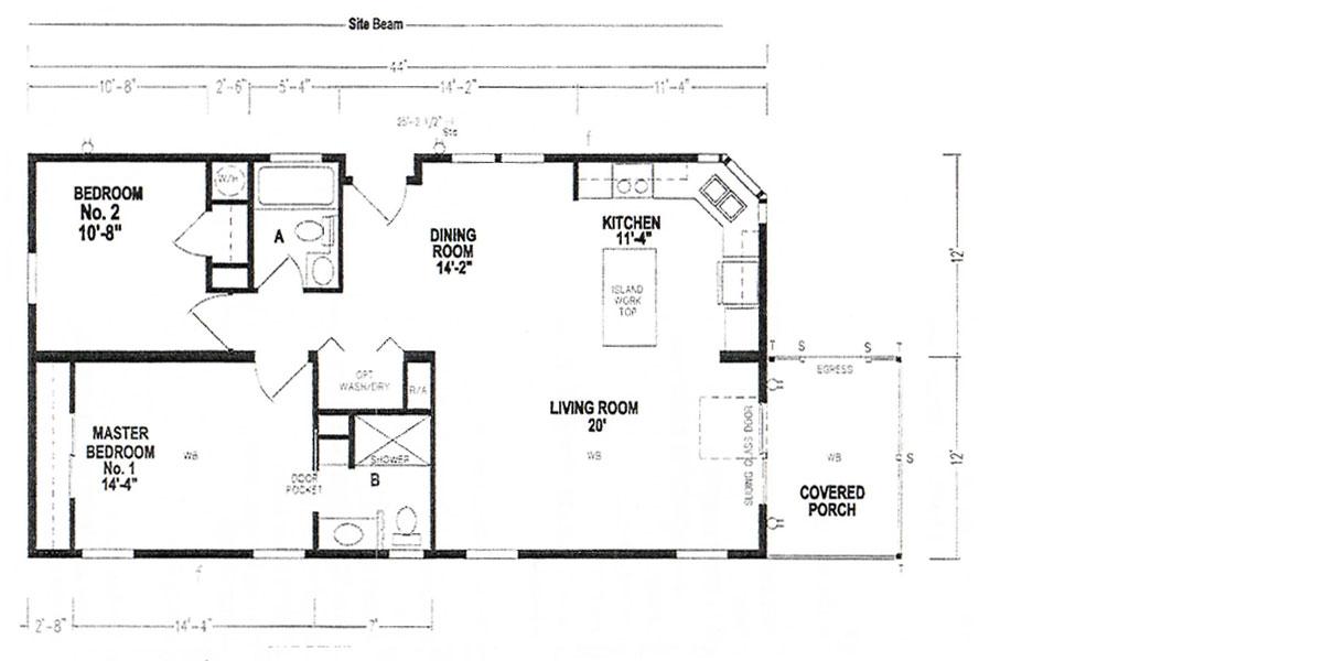Floor Plan - Model 4893 - 10906 Aztec Avenue, Riverview, Florida