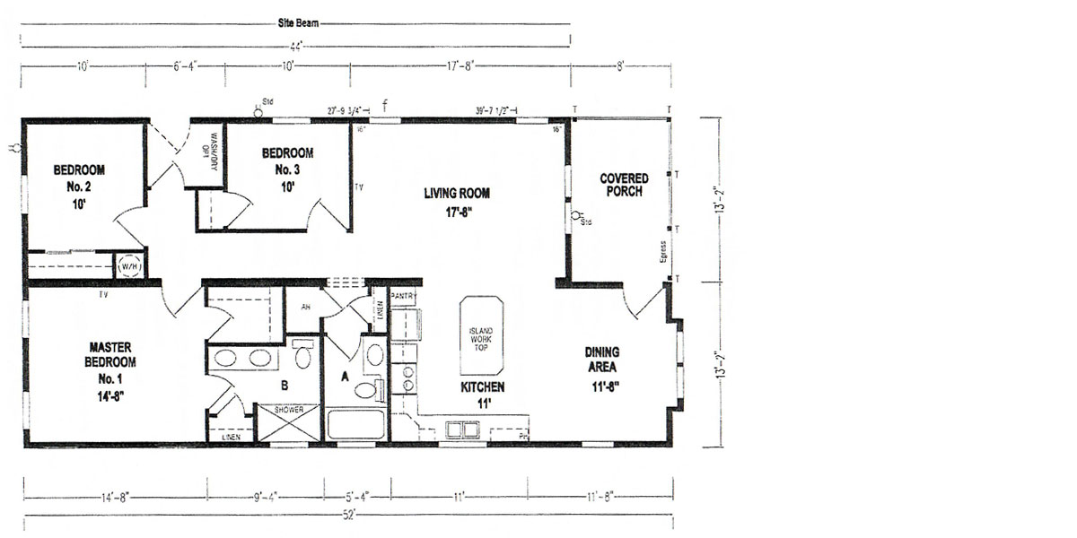 Floor Plan - Model 5035 - 10708 Casa Drive, Riverview, Florida